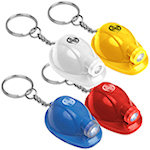 Hard Hat LED Keychains